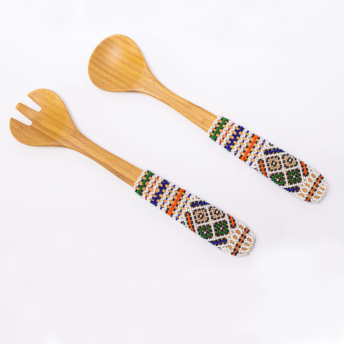 Ndebele Beaded Salad Servers - Africa Handmade