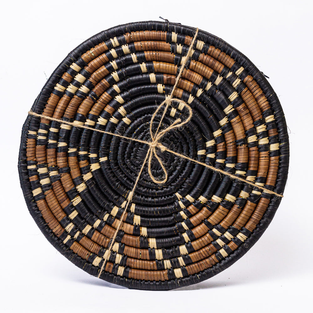 African Themed Woven Coasters (Large) - Africa Handmade