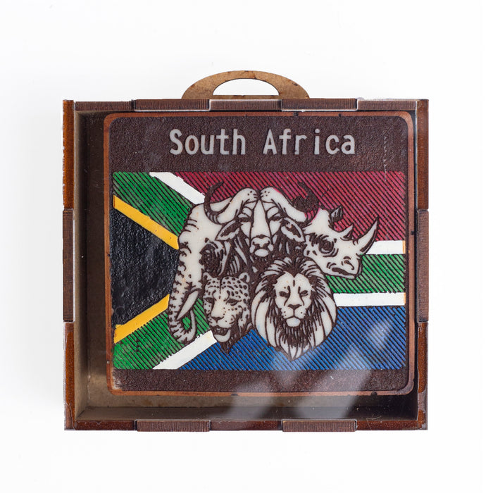 South African Location Coasters (Set of 6) - Africa Handmade