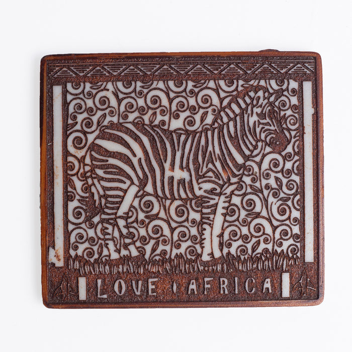 African Big Five Coasters (Set of 6) - Africa Handmade