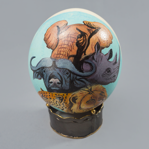 Big Five Painted Egg - Africa Handmade
