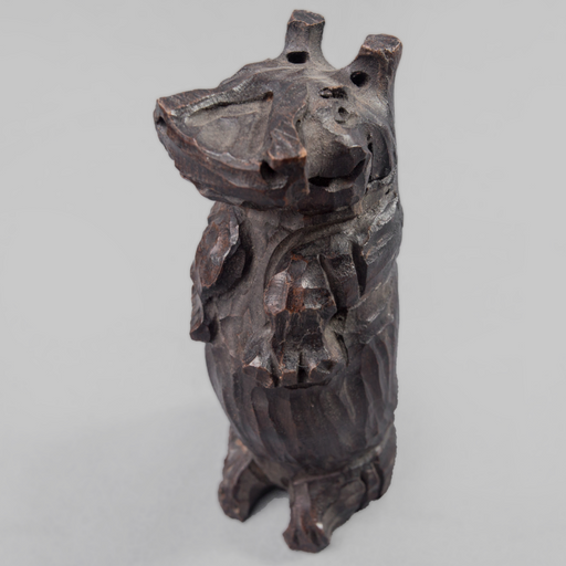 Sitting Hippo Ebony Wood Carving - Africa Handmade