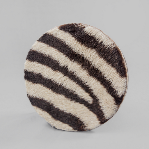 Zebra Fur Coasters (set of 6) - Africa Handmade