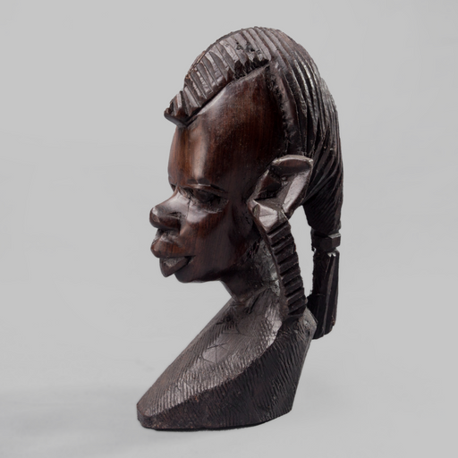 Masaai Warrior Ebony Wood Carving - Africa Handmade
