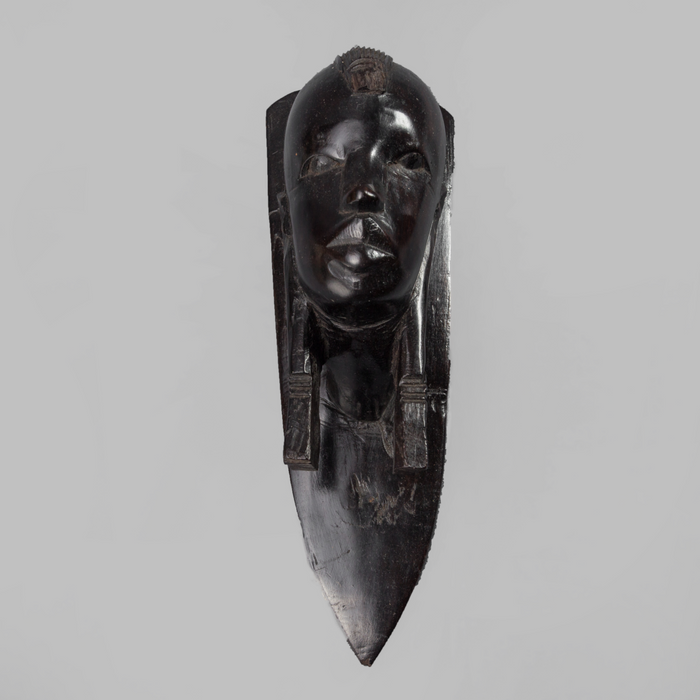 Head Of A Masaai Warrior Ebony Wood - Africa Handmade