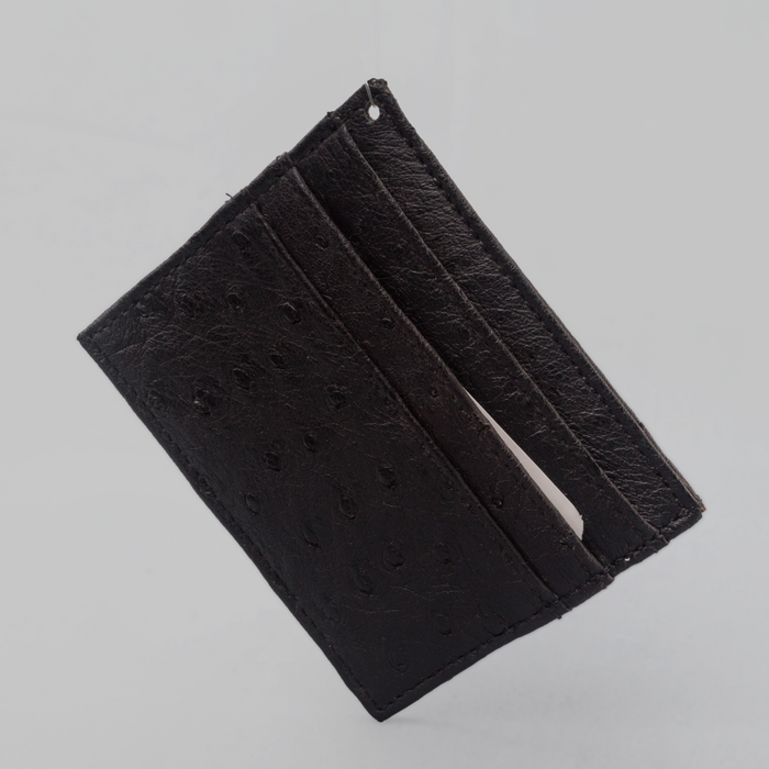 African Ostrich Leather Card Holder - Africa Handmade