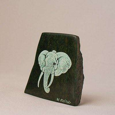 Big Five Animals Etched on Verdite Stone - Africa Handmade