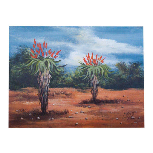 Aloe Landscape by Peter Chimucheka - Africa Handmade