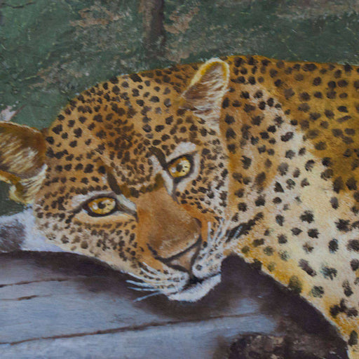 Leopard in a Tree by Len Roode - Africa Handmade