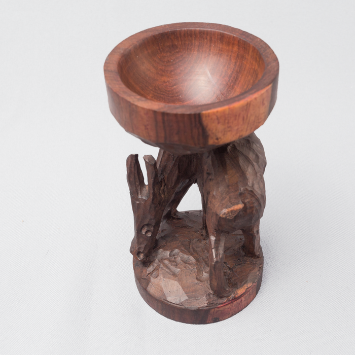 Feeding Bok Ebony Wood Egg Holder - Africa Handmade
