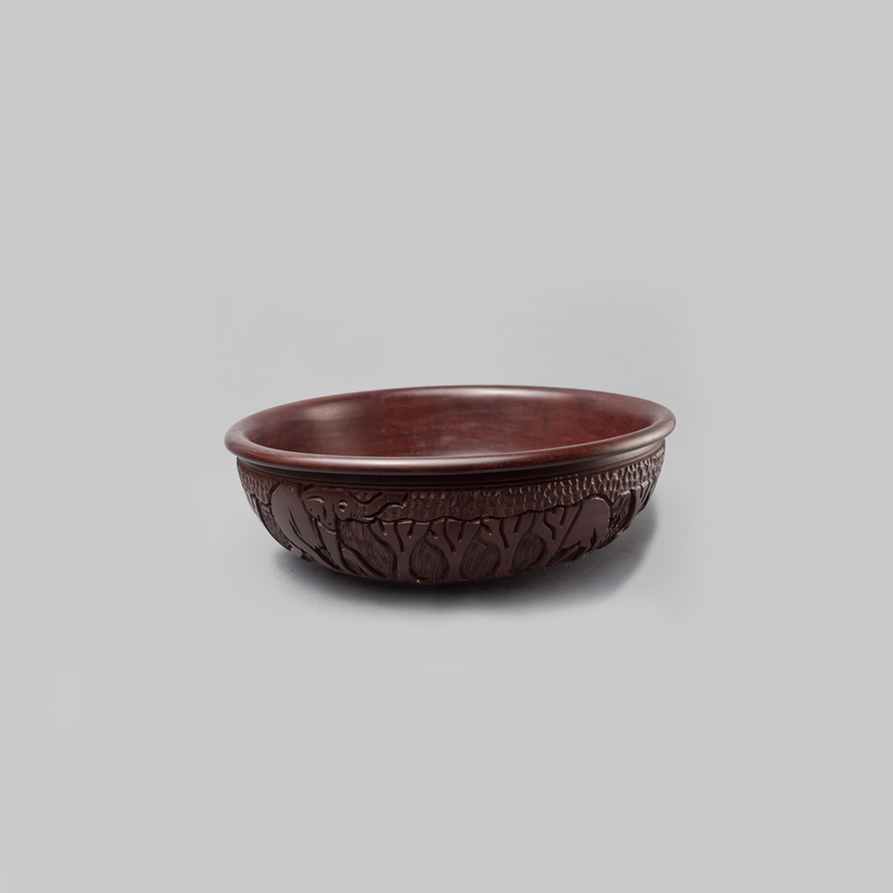 Ebony Wood Display Bowl - Africa Handmade