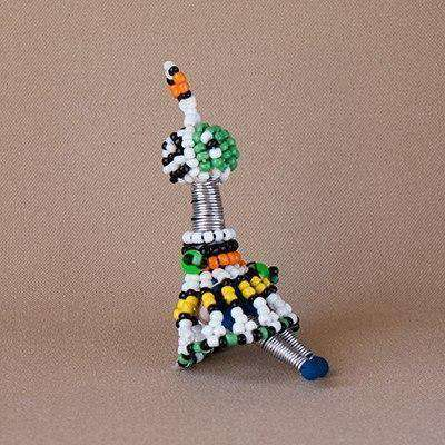 Beaded Key Ring Figurine Doll Small - Africa Handmade