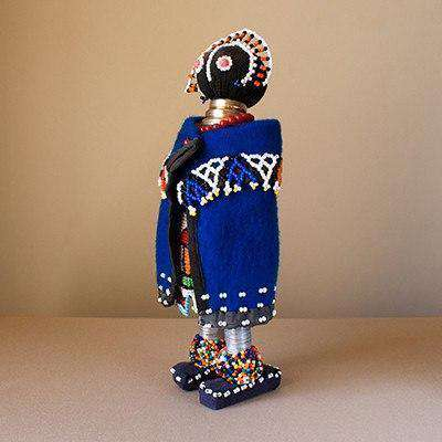 Beaded Ndebele Clan African Woman Doll - Traditional Ceremony Doll - Africa Handmade