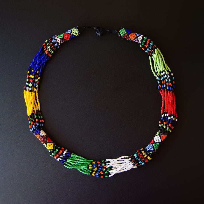 Beaded Ndebele Clan Women's Necklace & Bracelet(s) (Set) - Africa Handmade