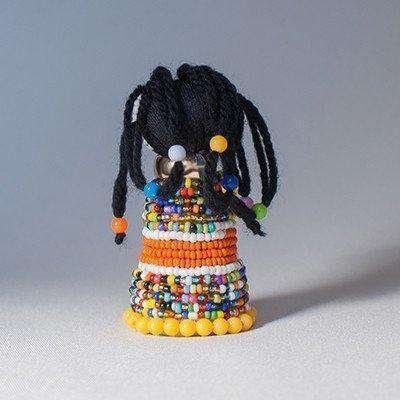 "IsiNdebele doll called ""The Medicine Woman"" Miniature - Africa Handmade"