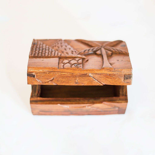Jewelry Box Olive Wood African Village (Small) - Africa Handmade