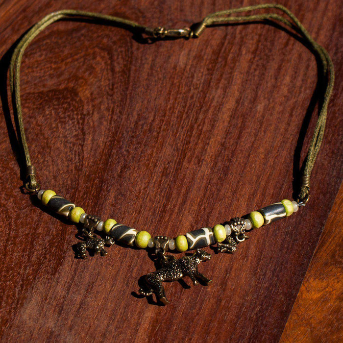 3 African Animals Charm Necklaces (Various) - Africa Handmade