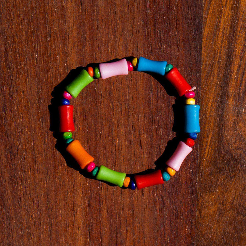 Kiddies Bracelet Pipe Bead Multi-Color - Africa Handmade
