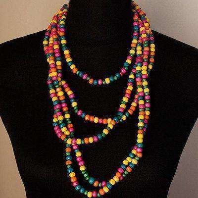 Multi Coloured Necklace by Palesa Khobane - Africa Handmade
