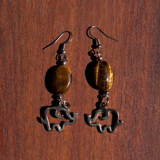 Tiger's Eye Bracelets Earrings (Various Animals) - Africa Handmade