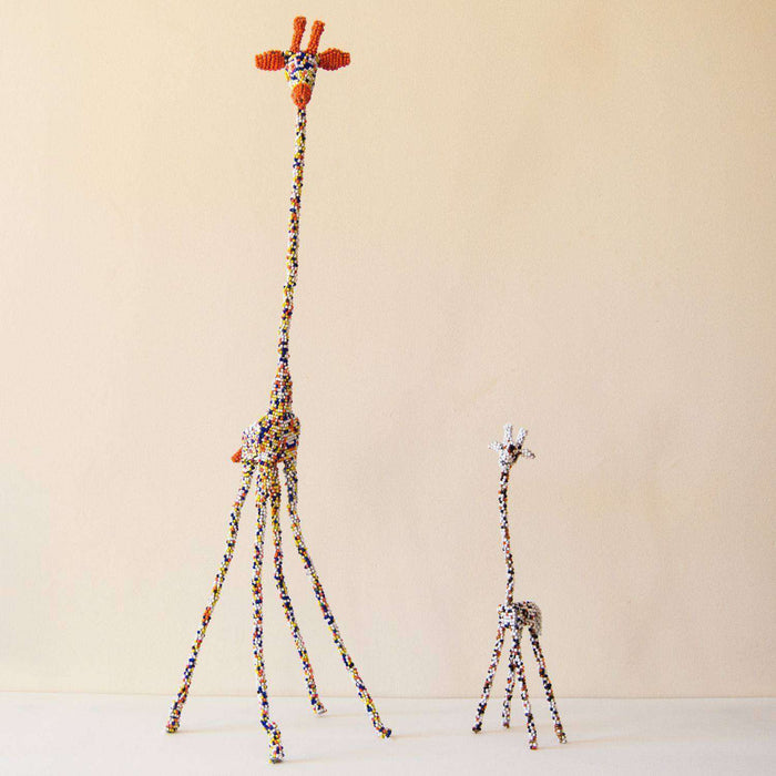 Beaded Wire Fold-able Giraffe (Large) - Africa Handmade