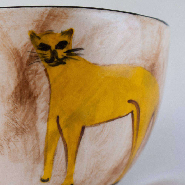 Cup Saucer and Tea Spoon by Elsona Hand-painted - Africa Handmade