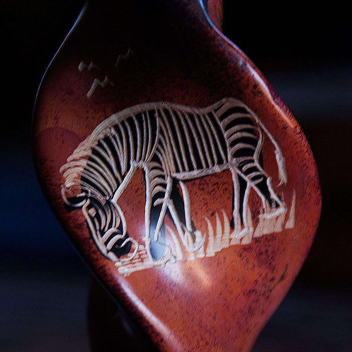 Decorated African Zebra Candle Holder - Africa Handmade