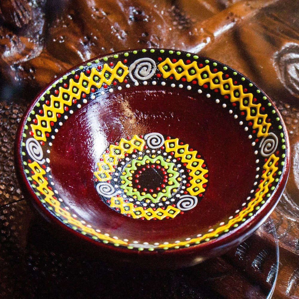 Hand Painted Serving bowl African design (decor) - Africa Handmade