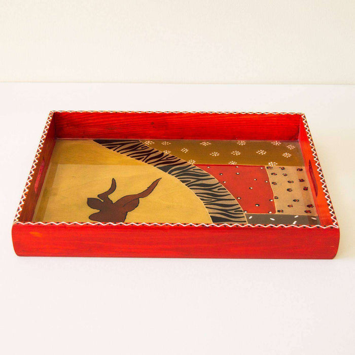 Handmade Wooden Serving Tray by Elsona - Africa Handmade