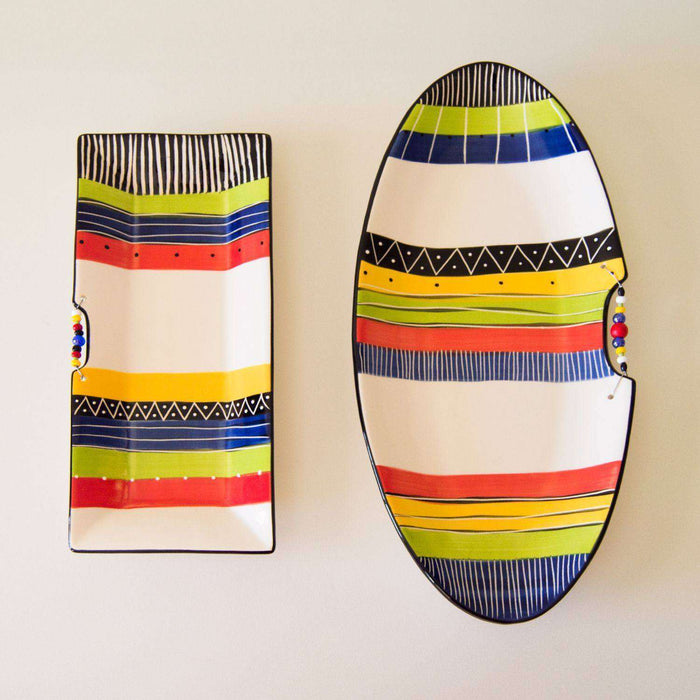 Miscellaneous Collection Rainbow Themed Ceramic Ware - Africa Handmade