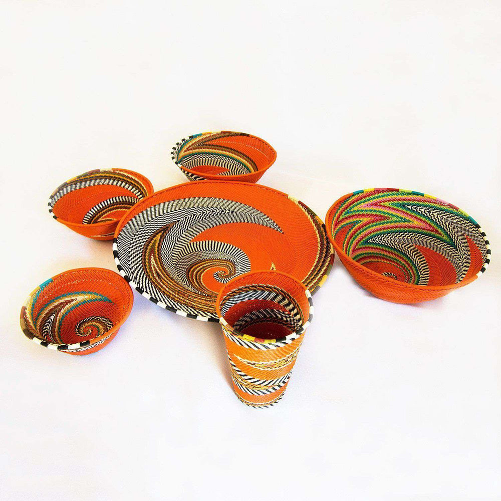 Traditional Design Colored Wire Bowls Hand Crafted (Set) - Africa Handmade