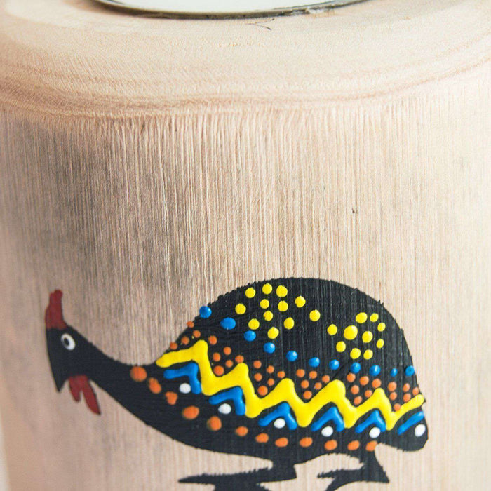 Wooden Tree Light Candle Holder GuineaFowl (Small) - Africa Handmade