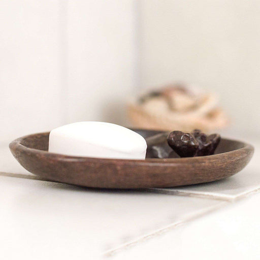Bathing Hippo Soap Dish - Ngaka Stone Brown Variant - Manduwe.com