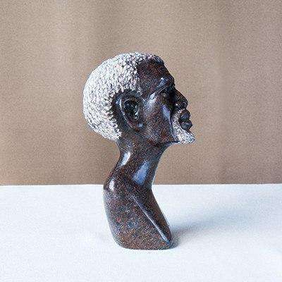 Old Man Soap Stone Desk Sculpture - Africa Handmade