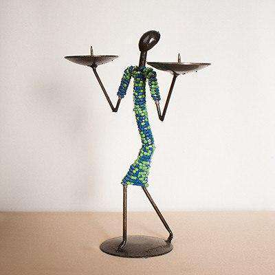 Candle Holder Beaded - Africa Handmade