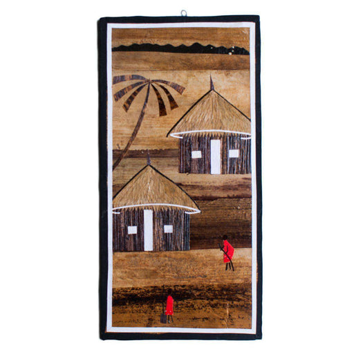 Banana Leaf African Village Medium - Africa Handmade