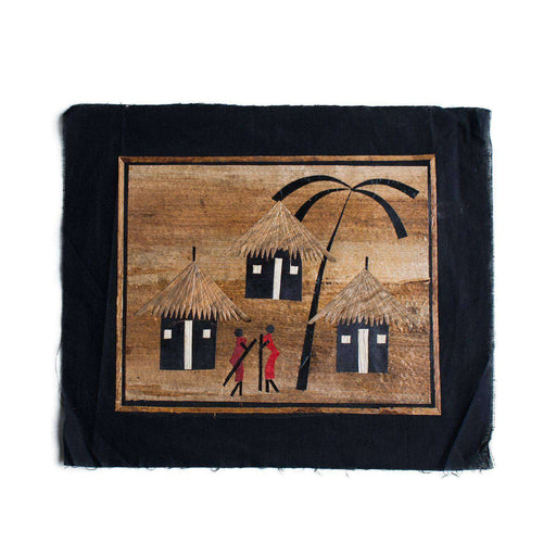 Banana Leaf African Village Small - Africa Handmade