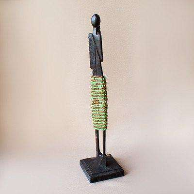 Beaded African Woman Sculpture - Africa Handmade