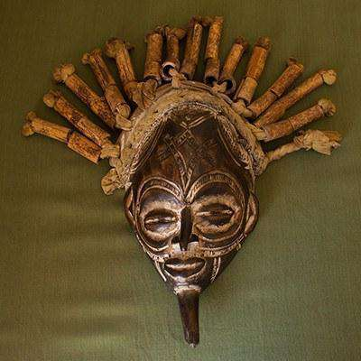Chokwe Tribal Mask (D.R. Congo) Male Ceremonial - Africa Handmade