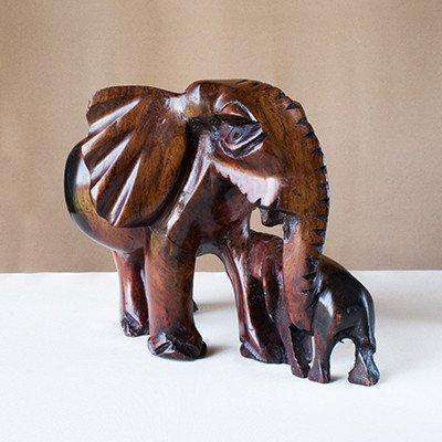Elephant and Child - Africa Handmade