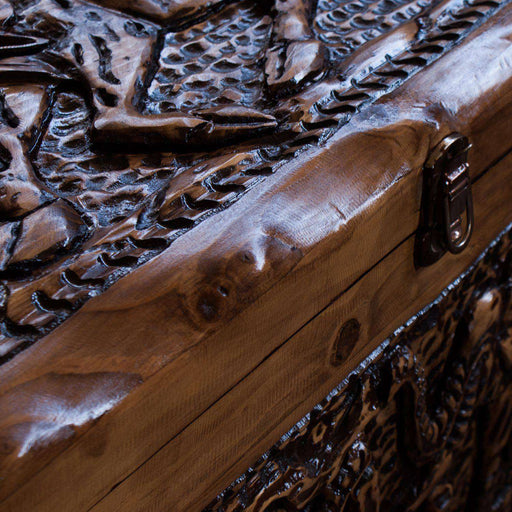 Handcarved Antique Dowry Chest - Big 5 - Africa Handmade