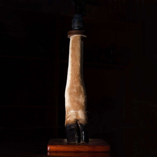 Kudu Leg Table Lamp with Fitting on Stand - Africa Handmade