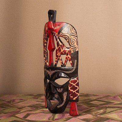 Maasai (Masai) Mask Combo Set of Three - Africa Handmade