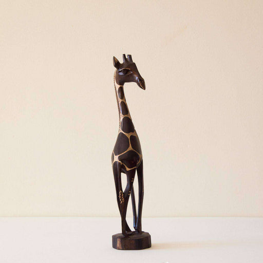 Mahogany Wood Giraffe Polished (Single & Pair Combo) - Africa Handmade