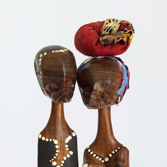 Mother Father Ceremony Wooden Sculpture - Africa Handmade