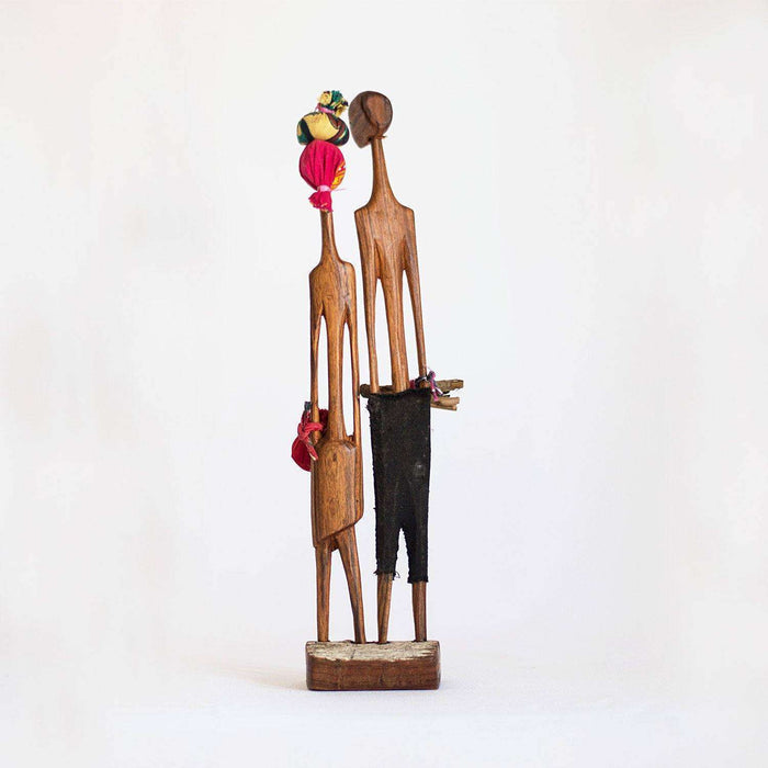 Mother Father in the Village Sculpture - Africa Handmade