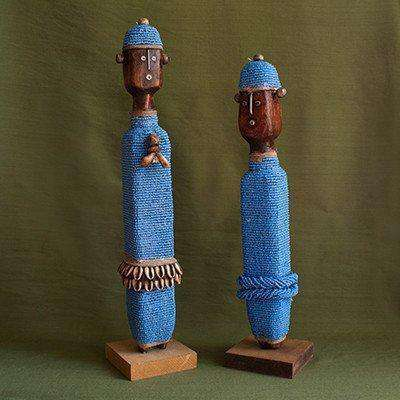 Namji-Danyi Fertility Dolls Combo Male and Female (Good Luck) Cameroonian Folklore - Africa Handmade
