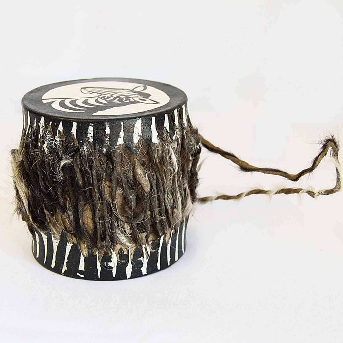 Painted Drum with Cow Hide (Small Various) - Africa Handmade