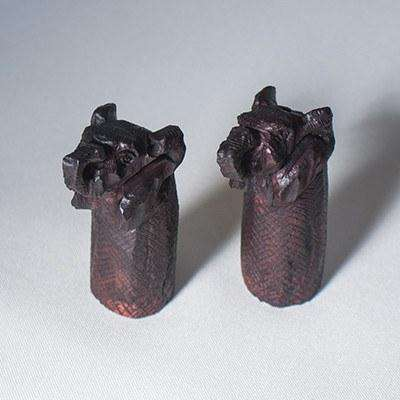 Rosewood Elephant salt and pepper shakers - Africa Handmade