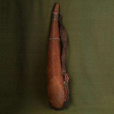 Traditional Gourd Travelling Container Vintage - Africa Handmade